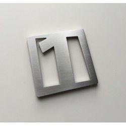 Design Faceb - Chiffre inox brossé ep2mm - 60x60mm