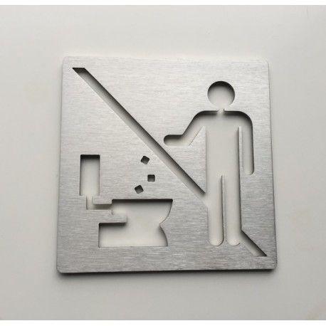 Pictogramme inox - Ne pas jeter - 100x100