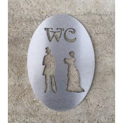 Pictogramme homme / femme toilettes retro 15cm