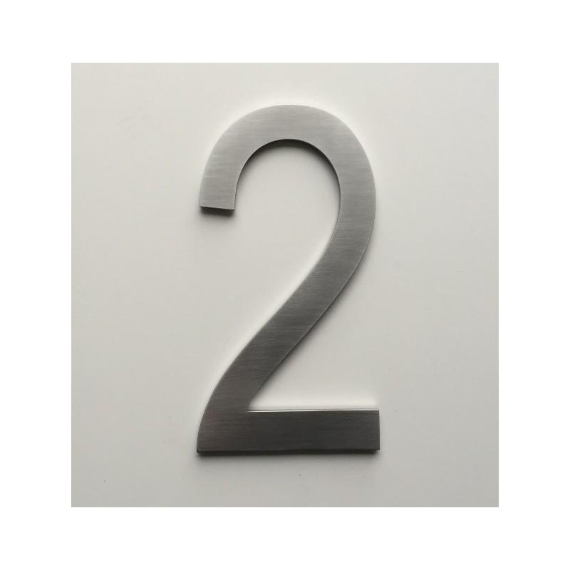 design arial chiffre inox bross ep3mm 15 ou 20cm accueil. Black Bedroom Furniture Sets. Home Design Ideas