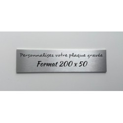 Plaque inox à personnaliser - Gravure laser - 200 x 50mm