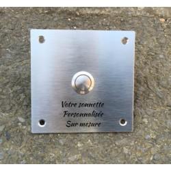Sonnette inox gravée - 100x100mm