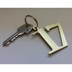 Porte-cles laiton brossé chiffres d'hôtel - 5cm ep2mm
