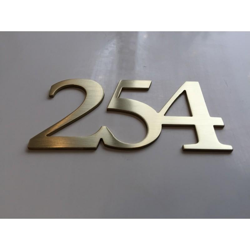 Num ros chambres d 39 h tel laiton bross chiffres d 39 h tel for Numero chambre hotel