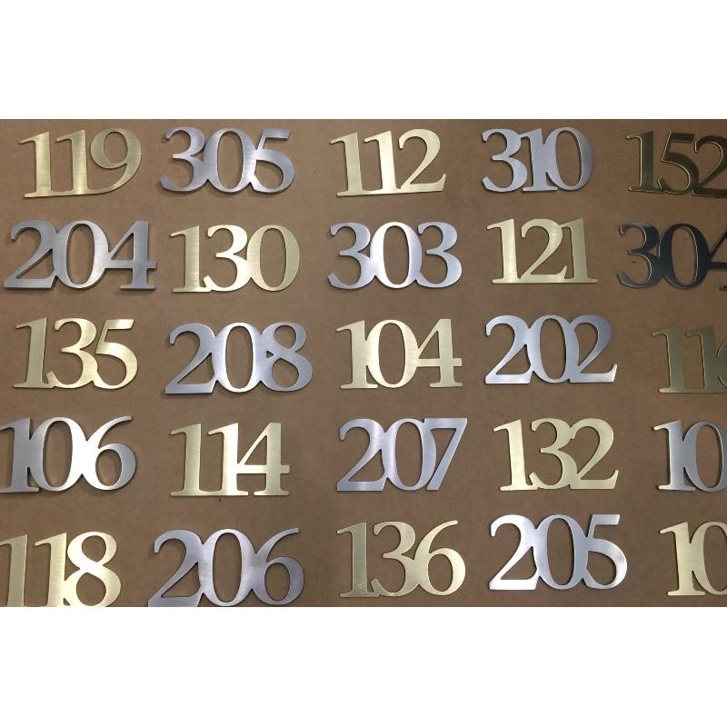 Num ros chambres d 39 h tel laiton bross chiffres d 39 h tel for Numero de chambre hotel