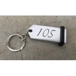 Porte-clés Aluminium à personnaliser - Gravure laser - 70x30mm