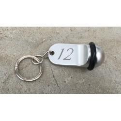 Porte-clé boule Lg70mm x Ø35.00mm - Gravure laser