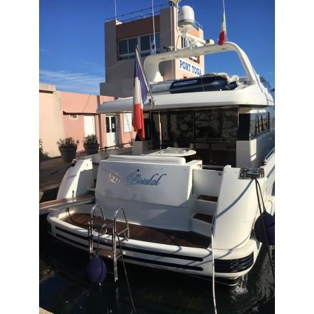 Enseigne bateau inox poli miroir 316L - Sur mesure