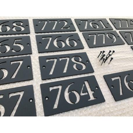 Plaque numéro thermolaqué sur inox - 143x72 - Numéro au choix
