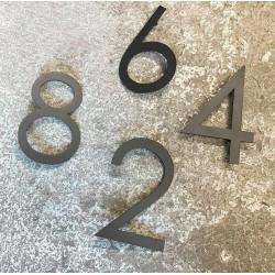 Design Century Gothic - Chiffre inox avec peinture au four - Taille de 8 à 15cm