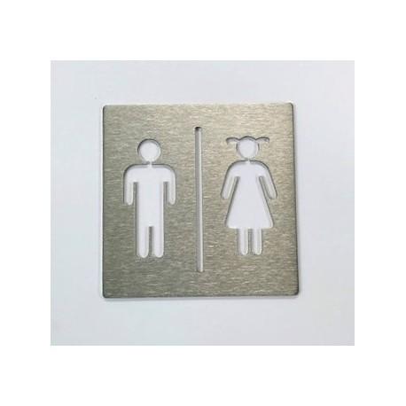 Pictogramme inox Toilettes pour enfants - 100x100 ou 150x150
