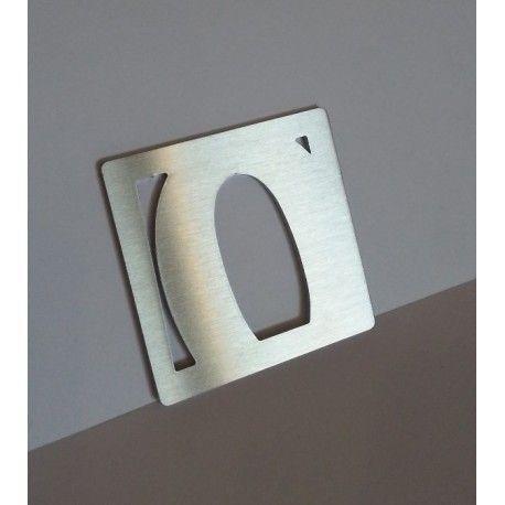 Chiffres inox brosse modele 3