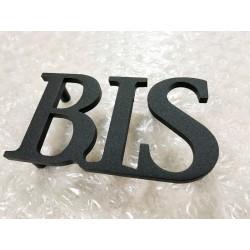Design lettres assemblées thermolaquées - BIS - TER - QUATER - A - B - C - D - E - Taille 5, 7 ou 10cm