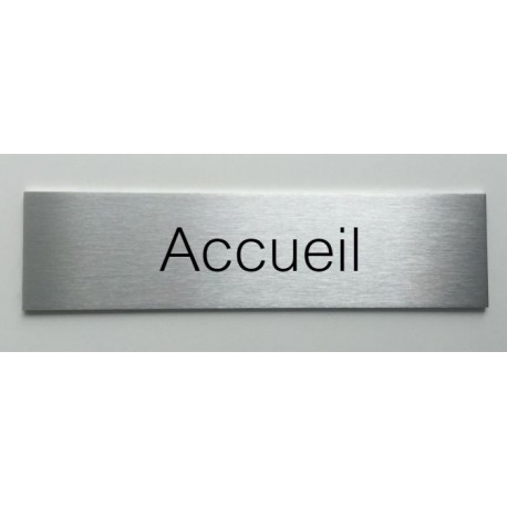 plaque de porte d interieur inox brosse accueil 150x50 ou 200x50. Black Bedroom Furniture Sets. Home Design Ideas