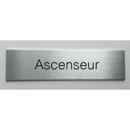 plaque de porte d interieur inox brosse ascenseur 150x50. Black Bedroom Furniture Sets. Home Design Ideas