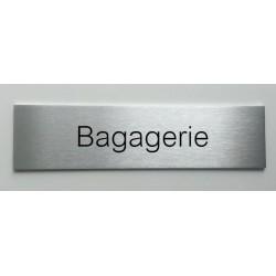 """Plaque de porte d'intérieur inox brossé """"Bagagerie"""" - 150x50 ou 200x50"""
