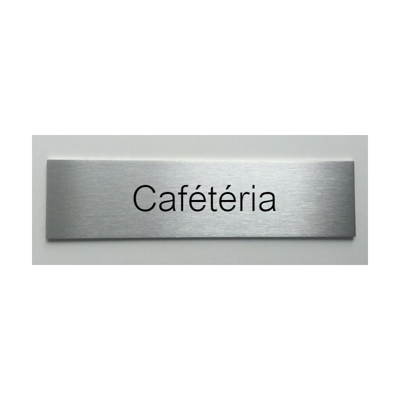 plaque de porte d interieur inox brosse cafeteria 150x50 ou 200x50. Black Bedroom Furniture Sets. Home Design Ideas