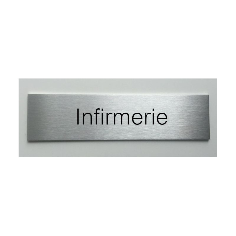plaque de porte d interieur inox brosse infirmerie 150x50 ou 200x50. Black Bedroom Furniture Sets. Home Design Ideas