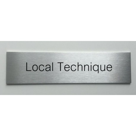 plaque de porte d interieur inox brosse local technique