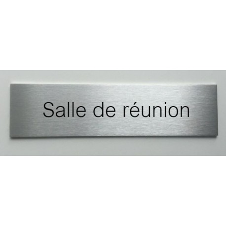 plaque de porte d interieur inox brosse salle de reunion 150x50 ou 200x50. Black Bedroom Furniture Sets. Home Design Ideas