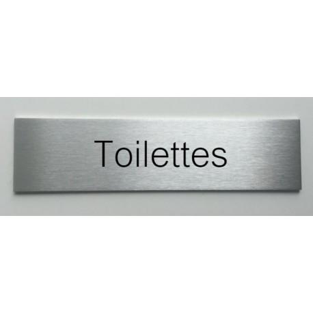 Plaque de porte d interieur inox brosse toilettes 150x50 for Dimension porte interieur standard