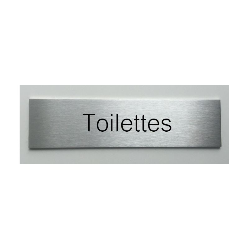 plaque de porte d interieur inox brosse toilettes 150x50 ou 200x50. Black Bedroom Furniture Sets. Home Design Ideas