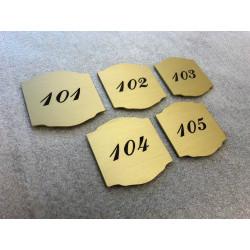 Plaque laiton gravée à personnaliser sur mesure - 50x50 / 100x100 / 125x125 / 150x150 / 200x200