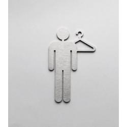 Pictogramme vestiaire homme - 10/15cm