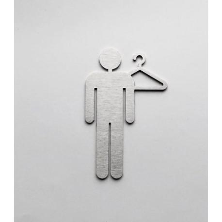 Pictogramme vestiaire homme 10/15cm