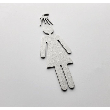Pictogramme douche femme 10/15cm