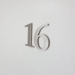 Design numéro individuel Stone Sérif - Taille 5 / 8.5 ou 10cm