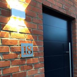 Numéros alignés - Plaque habitation inox brossé - 176x176 ou 195x130