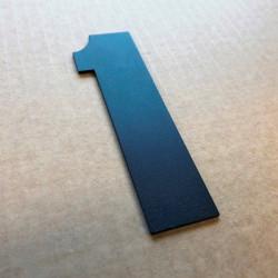 Design Haettenschweiler - Chiffre inox et peinture thermolaquée - Taille de 5 à 50cm