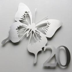 Numéro habitation papillon - 365mm x 335mm