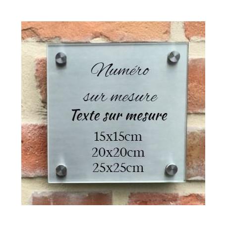 Plaque habitation inox-verre trempé hauteur 150 / 203.2 ou 254