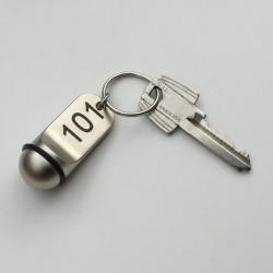 Porte-clé boule 50mm x Ø20.00mm - métal nickelé - gravure laser