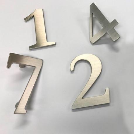 Design Lacier - Chiffre inox brossé - Taille de 5 à 50cm