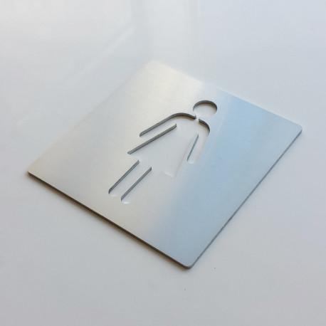 Pictogramme femme toilettes - 100x100 ou 150x150mm