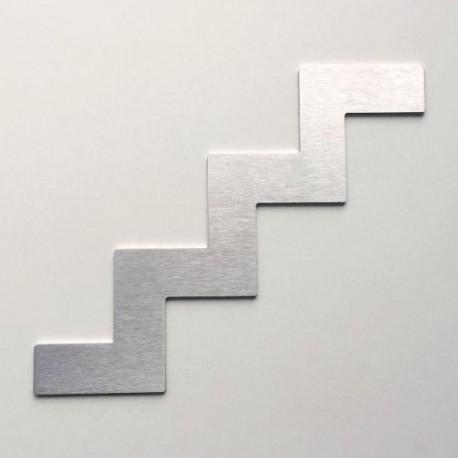 Pictogramme inox Escalier HT100 ou 150mm