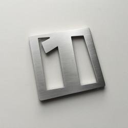 Design Faceb - Numéro Chambre Hôtel - Inox brossé ep2mm - 60x60mm