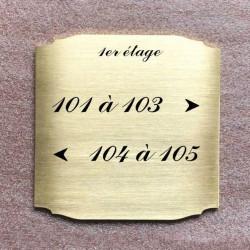 Plaque laiton gravée à personnaliser - Modèle2 - 50x50 / 100x100 / 125x125 / 150x150 / 200x200