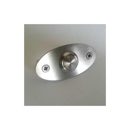 Sonnette inox brossé ovale - 60x30 ou 70x35mm