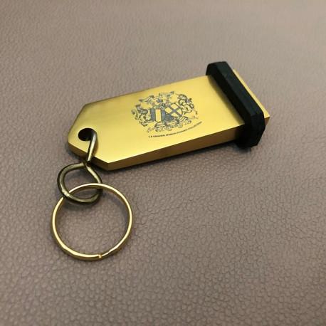 Porte-clés Aluminium à personnaliser - Gravure laser - 75x30mm - DORE