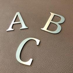 Design Lacier - Lettre inox brossé - Taille de 5 à 50cm