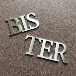 Design lettres assemblées - BIS - TER - QUATER - A - B - C - D - E - Taille 5, 7 ou 10cm