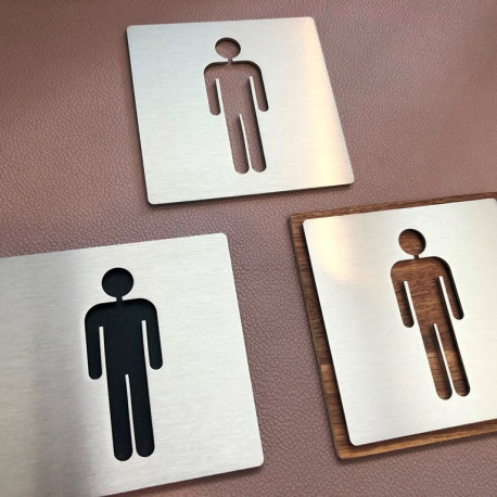 Pictogramme homme toilettes - 100x100 ou 150x150mm