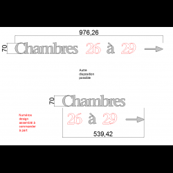"""Design Assemblé - """"Chambres à flèche"""" - Inox brossé - Taille 50, 70 ou 100mm"""