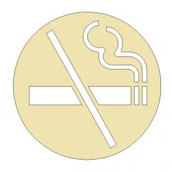 Pictogramme Ne Pas Fumer Diam100 ou 150mm - LAITON