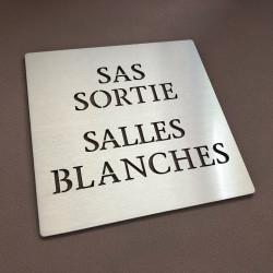 Pictogramme SAS SORTIE - SALLE BLANCHE - 100x100 ou 150x150mm