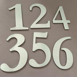 Design Lacier - Numéro Chambre Hôtel - Inox brossé - Taille de 5 à 50cm